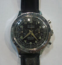 60s Arnold Incabloc Two Registers French Army Divers Chronograph with Cal.248