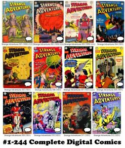 Strange Adventures DC Comics #1-244 Gold & Silver Age Issues 1950 Digital DVD
