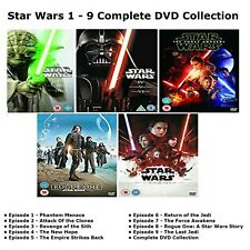 STAR WARS COMPLETE COLLECTION DVD SET EPISODE PART 1 2 3 4 5 6 7 8 9 FILM UK