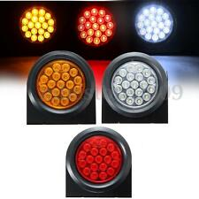 19LED Round Reflector Truck Trailer Brake Stop Turn Tail Lights Marker Indicator