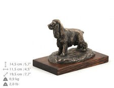 English Cocker Spaniel, dog bust/statue on wooden base , ArtDog , Ca