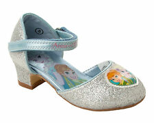 GIRLS SILVER GLITTER DISNEY FROZEN DRESS UP PARTY WEDDING SANDALS SHOES SIZE 8-1