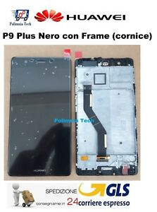 DISPLAY HUAWEI P9 PLUS NERO - LCD+TOUCH COMPLETO con FRAME - VIE-L09 L29