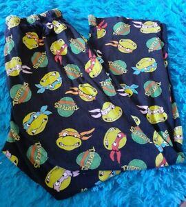 Teenage Mutant Ninja Turtles Mens sz large Pajama Lounge Pants Black Green