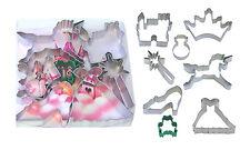 Cortadores de galletas Cookie Niñas Princesa Set-Unicornio, Castillo, Corona, Varita, Rana