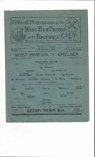 West Ham United Home Team Written - on Football Programmes