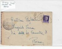 Italy to rome censor 1943 stamps Cover Ref 8831