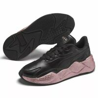 Puma RS-X3 Glitz (Women's Size 6) Athletic Sneakers Black Rose Glitter Shoes