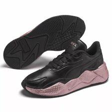Puma RS-X3 Glitz (Women's Size 9) Athletic Sneakers Black Rose Glitter Shoes