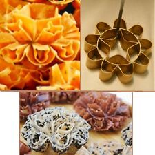 Dok Jok Brass Mold Thai Honeycomb Cookie Sunflower Biscuit DIY Party Fun 8cm dia
