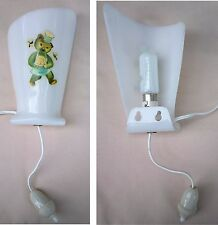 Applique lampe chevet vintage ancien ourson enfant former children bedside lamp