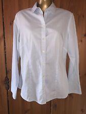 BANANA REPUBLIC Women's Blue & White Check Shirt Size M