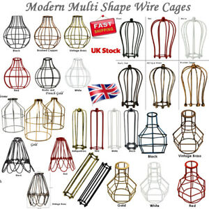 Vintage Bulb Cage shade All Wire Industrial light Frame lamp Guard Bar Cafes UK