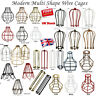 Vintage shade All Wire Cage Industrial light Metal Frame lamp Guard Bar Cafes UK