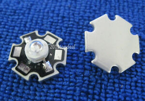1W 3W 365nm UV LED ultraviolet LED chip light High Power bead with 20mm star pcb