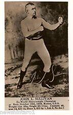 #D14. BOXING PHOTO FAN CARD - JOHN L. SULLIVAN,  USA