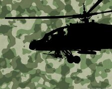 "Military Air Force USA Black Hawk Helicopter Wall Sticker Decal 22""h x 36""w"