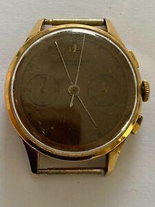 Formida Chronographe Suisse Antimagnetique Solid Gold 18K Watch Vintage, Men's