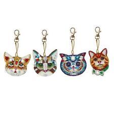 5D DIY Diamond Painting Keychain Full Drill Cat Diamond Painting Kit Gift