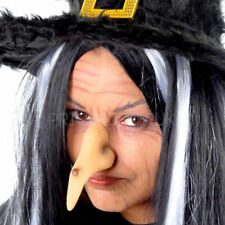 HALLOWEEN WITCHES BIG LARGE HOOK NOSE WARTS ELASTIC FANCY DRESS PARTY