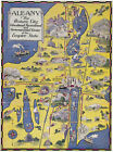 1932+Pictorial+Map+of+Albany+the+Historic+City+11%22x15%22+Wall+Art+Poster+Print+