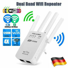 1200Mbps Wireless WiFi WLAN Repeater Verstärker Extender Router+ 4 Antenne 5G/4G