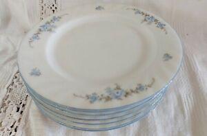 Seltmann Weiden Blue Regina Blue Floral Set of 7 Side Plates (17cm)