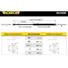 MONROE Gasfeder Koffer-//Laderaum ML5500 für VOLVO