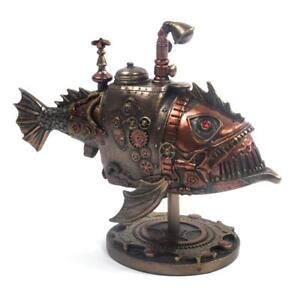 Nemesis Now - Sub Piranha Figure - 22.5cm - C1999F6 STEAMPUNK STEAM PUNK