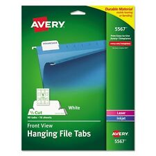 Avery Printable Hanging File Tabs - 5567