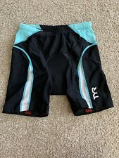 TYR Cycling Shorts Women's Size Small Color Black/ Blue