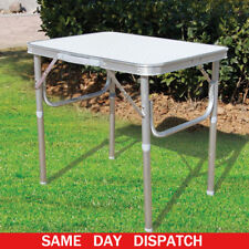 2FT Strong Square Folding Table with Fold Away Legs Small Camping Picnic Kitchen