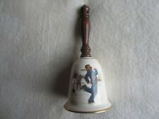 "1978 Gorham Norman Rockwell 9 Inch ""Gay Blades"" Bell"