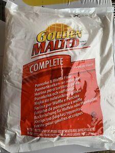 Golden Malted Original Waffle & Pancake Mix - Non-GMO Just add Water.