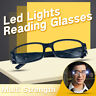 Multi Strength Reading Glasses LED Light Magnifier Eyeglass Spectacle Diopter