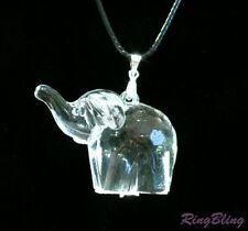 NOVELTY ELEPHANT NECKLACE! CRYSTAL EFFECT ELEPHANT! HALF PRICE SALE ONLY £4.99!