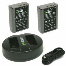 Wasabi Power Battery (2-Pack) and Dual USB Charger for Olympus BLN-1, BCN-1