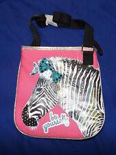 Girls Zebra Be Yourself Mini Cross Body Bag Purse pink fun kids sequined bow new