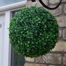 Best Artificial 28cm Verde Boxwood Buxus Topiario Pasto Colgante Jardín De Bola