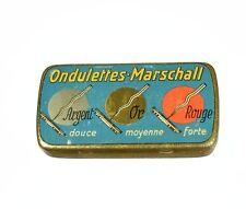 MARSCHALL Nadeldose Grammophonnadeldose Blechdose alt needle tin gramophone