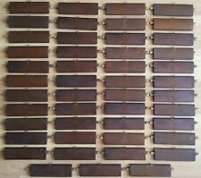 OLD VTG ANTIQUE SMALL MINI  ART CRAFT WOOD SHUTTER LOUVER HANGER SLAT LOT OF 47