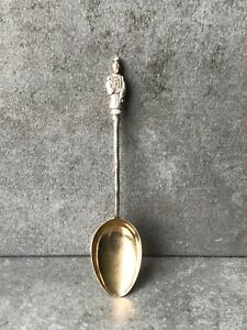 Antique Chinese Wing Nam Hong Kong Sterling Silver Coffee Spoon c1890