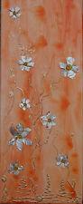 "Acrylbild Acrylmalerei Collage Kunst Deko Muttertagsgeschenk ""Perlmuttblumen"""