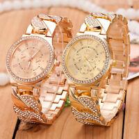 Women's Fashion Crystal Geneva Bling Girl Stainless Steel Quartz Wrist Watch New