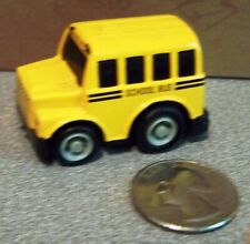 MINI MINIATURE COLLECTOR TOY 1 X 2 TEENY TINY YELLOW METAL SCHOOL BUS ACTION TOY