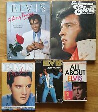 ♫ ELVIS PRESLEY  5 Elvis books - some rare - OOP - in good condition - lot 35 ♫