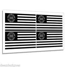 "3 Percenter 3% American Subdued Us Flag 2nd amendment Decal Sticker 4 Pack 5"""