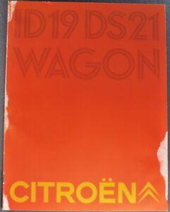 1969 Citroen Catalog Brochure DS21 ID19 Sedan Pallas DS Wagon Original 69