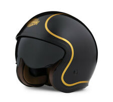 HARLEY-DAVIDSON® BOUGIE BLACK & GOLD OPEN FACE HELMET 98174-20EX SMALL