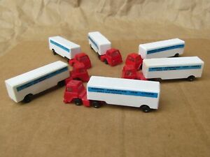 RETIRED ~ 6 MOVING VANS by Bachmann ~ Mayhayred Trains N Scale Lot